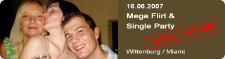 Galerie: Mega Flirt & Single Party<br>Miami / Wittenburg /