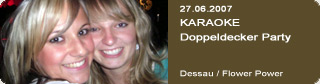 Galerie: KARAOKE-Doppeldecker-Party<br> Flower Power / Dessau  /