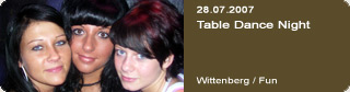 Galerie: Table Dance Night<br>Wittenberg / Fun /