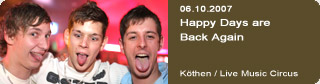 Galerie: Happy Days are Back Again<br>Live Music Circus / Köthen /