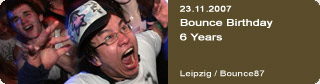 Galerie: Bounce Birthday 6 Years<br>Bounce87 / Leipzig /