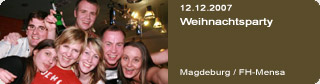 Galerie: Weihnachtsparty<br>FH-Mensa / Magdeburg /